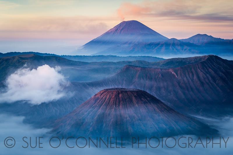Dawn over Volcano Landscape