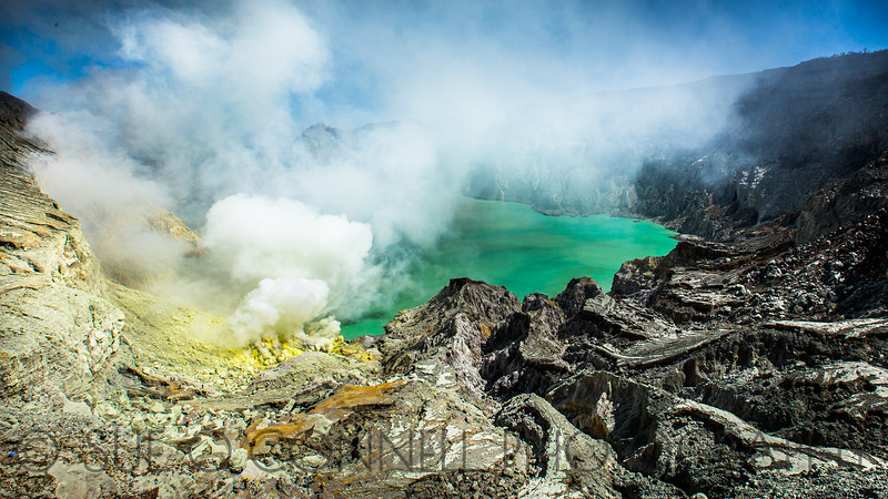 View of Ijen Crater