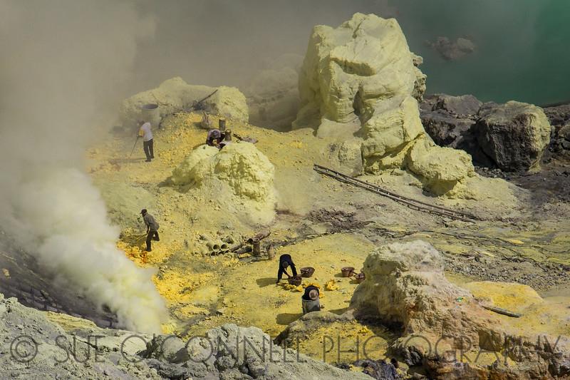 Sulphur Mining in Ijen Crater
