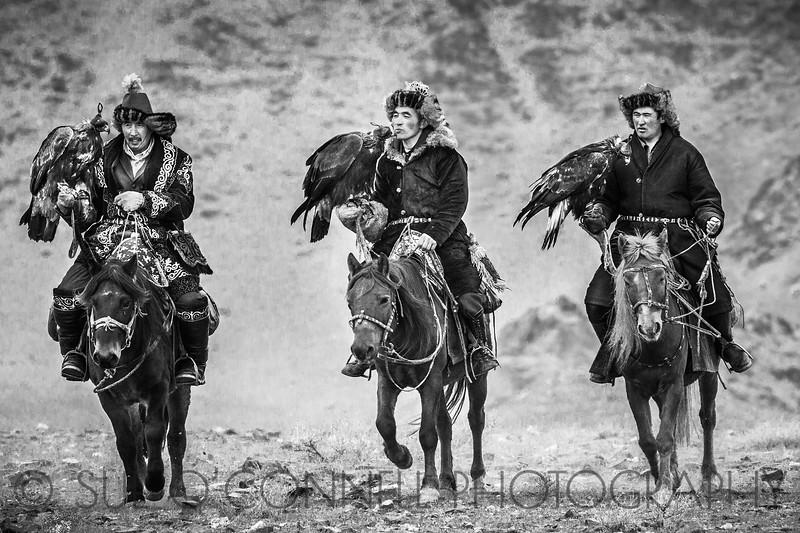 Trio of Eagle Hunters