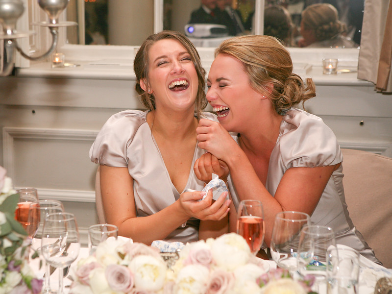 Bridesmaids at Speeches