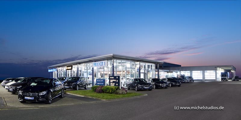 Mercedes Autohaus Architektur Außenaufnahme