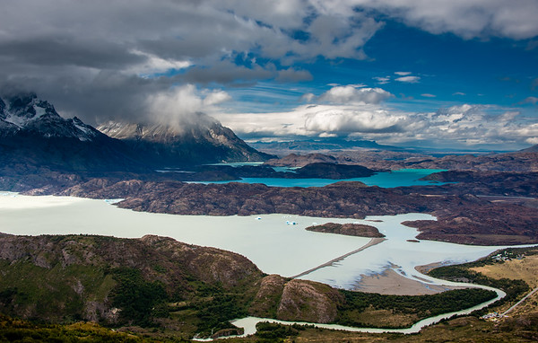 Grey Lake and Torres Del Paine