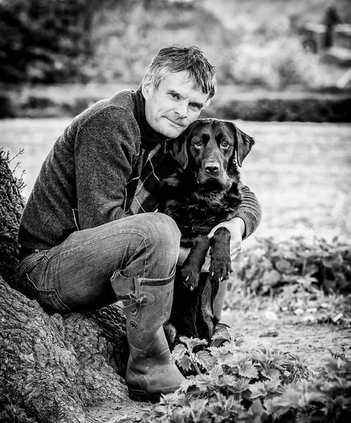 The Dog Photographer Self Portrait with Bracken the Labrador