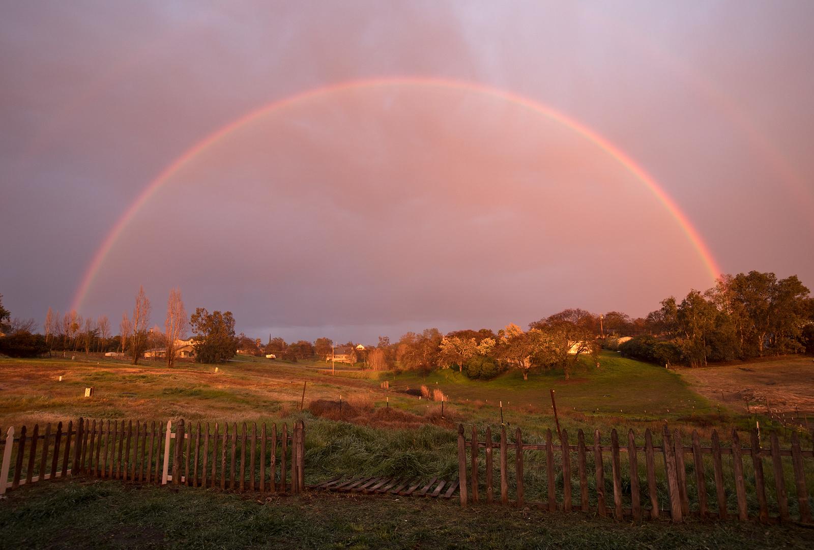 Double Rainbow behind my home