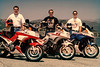 Eugene Smith, Doug and Dennis Heavey and our FJ1200's, Lake Casitas, April 1994<br /> CC19: levels, 1 pass usm 120,1,2, lots of artifact removal from scan.