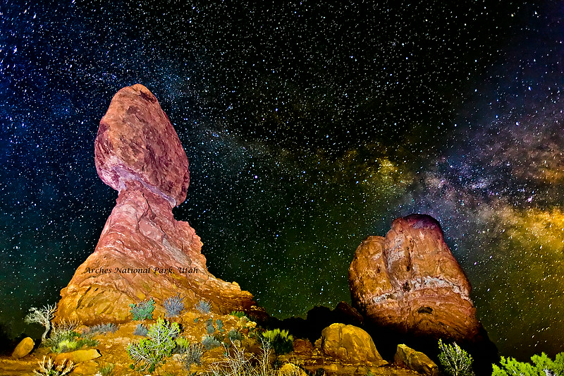 Balanced Rock and Milky Way