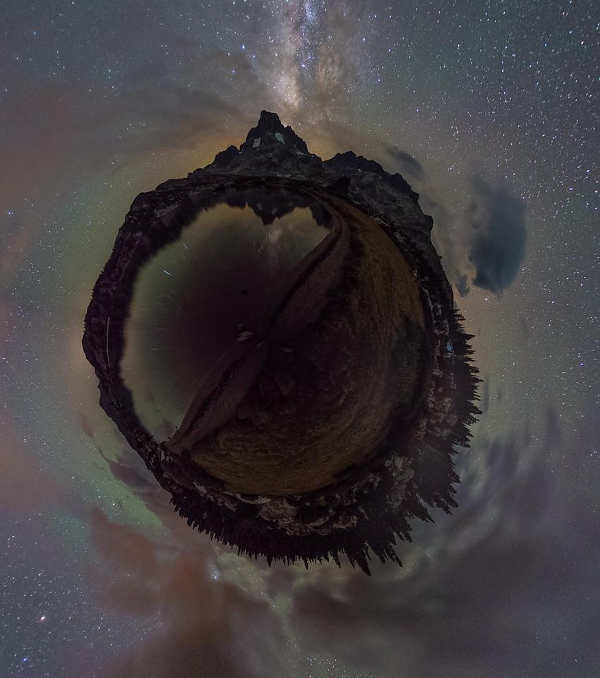 Banner Peak Milky Way Planet