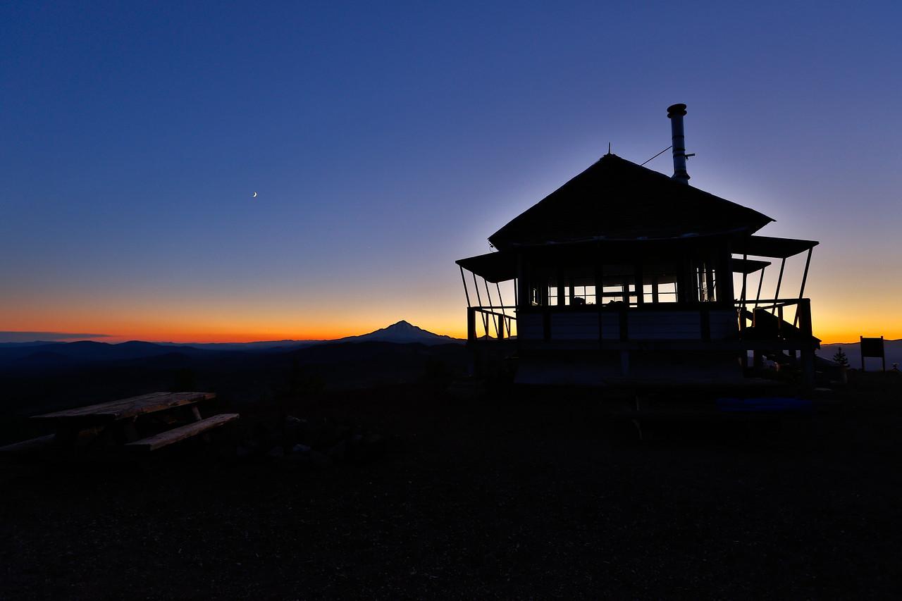 Sunset over Shasta