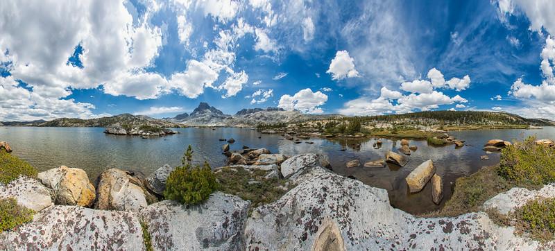 Banner Peak and 1000 Island Lake