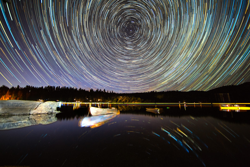 Star Trails over Pinecrest Lake