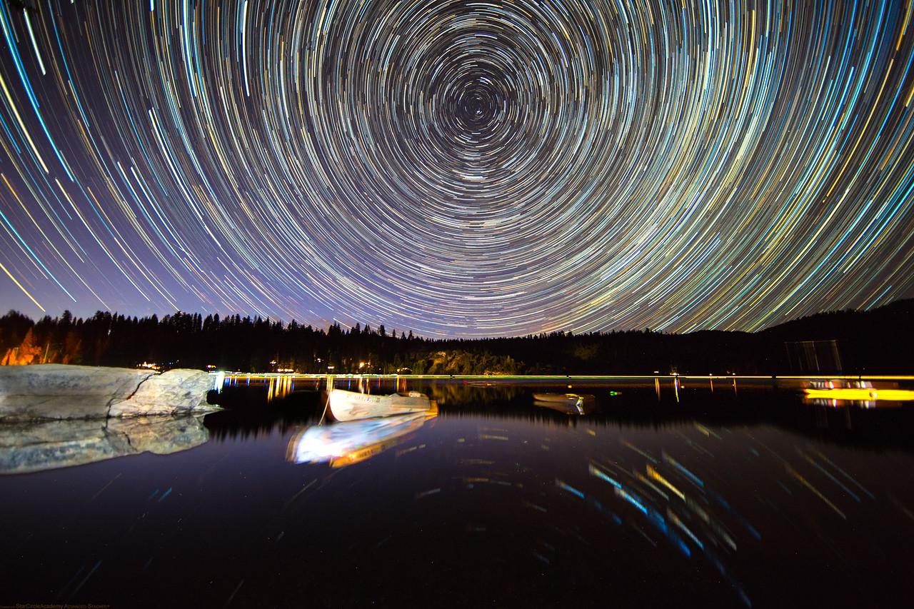 Star Trails over Pinecrest Lake