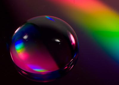 """Rainbow Droplet"" Macro still-life"