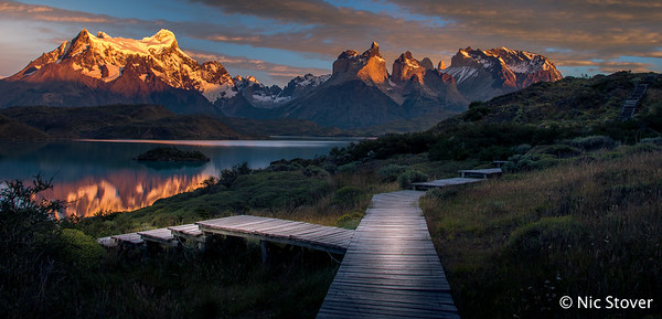 Patagonia - Horns at Sunset from Boardwalk