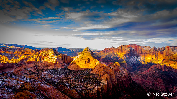 Utah – Zion Canyon Aerial View