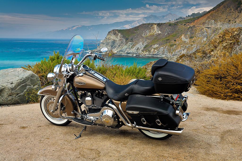 Harley in Big Sur