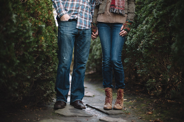 Chicago Botanic Gardens engagement session