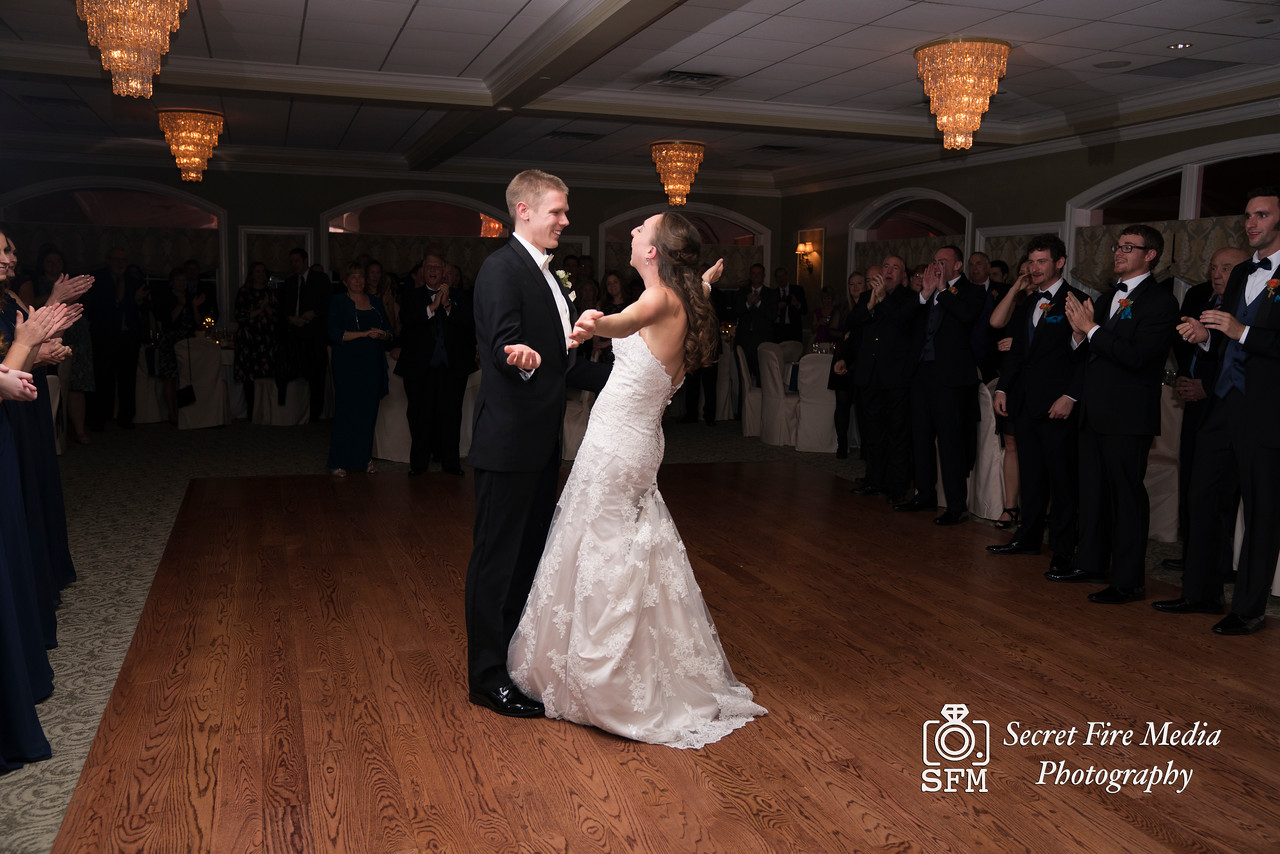 Bride and grooms first dance at reception at Hudson Valley Wedding At Links At Union Vale in New York