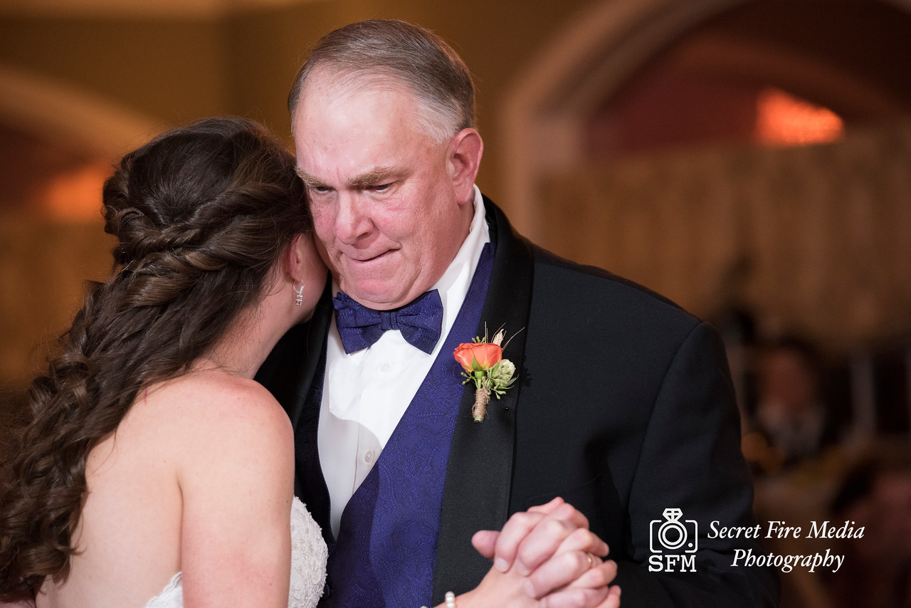 Bride and fathers dance Hudson Valley Wedding At Links At Union Vale in New York