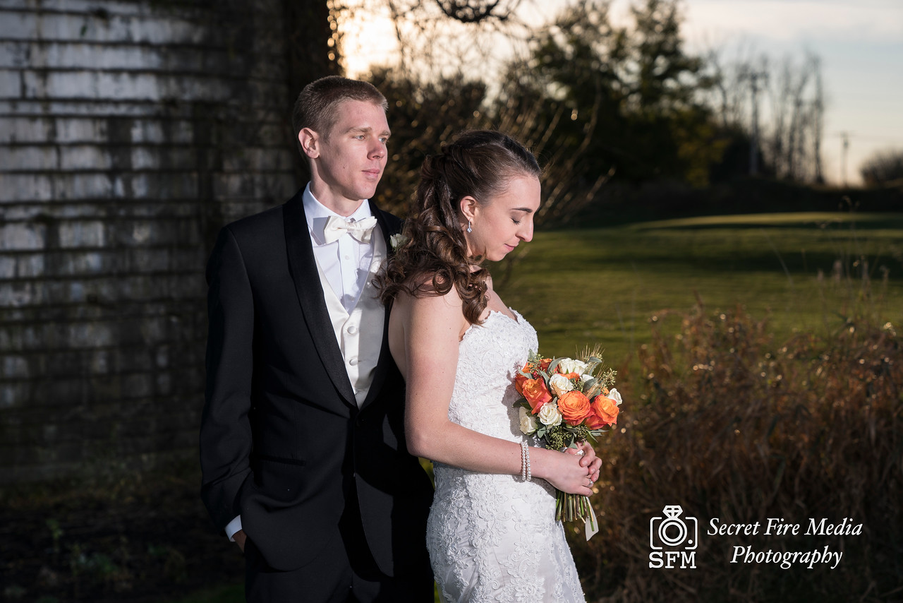 Bride and groom art photo before her Hudson Valley Wedding At Links At Union Vale in New York