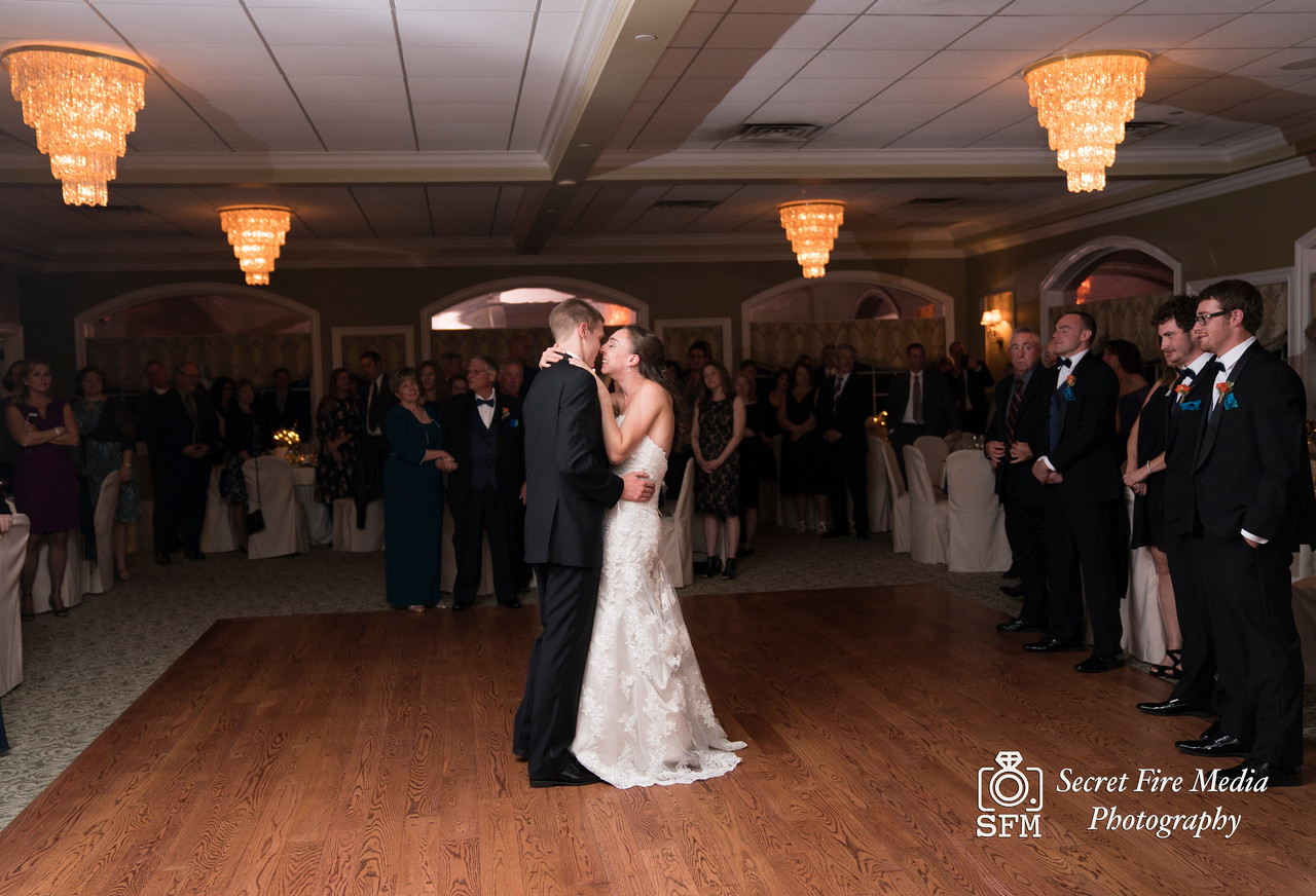 Bride and grooms first dance at Hudson Valley Wedding At Links At Union Vale in New York