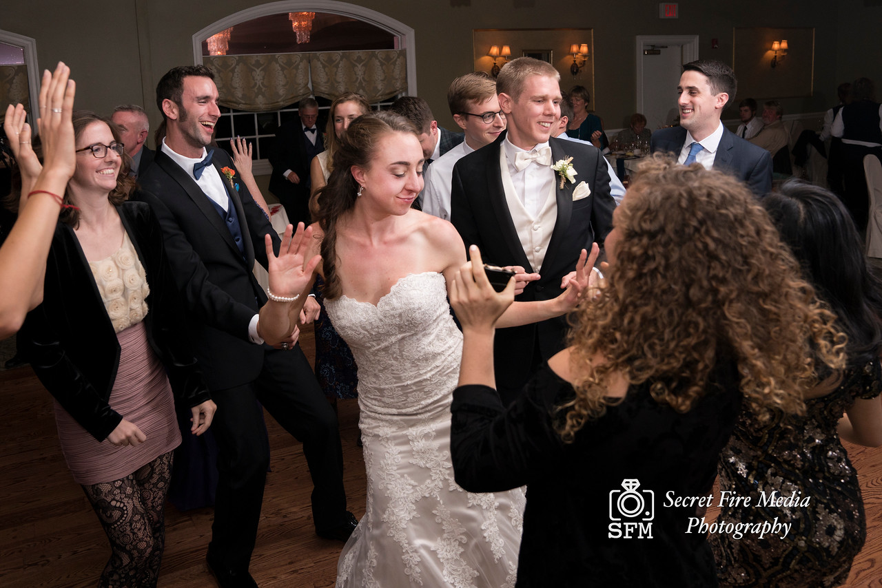Bride dances at Hudson Valley Wedding At Links At Union Vale in New York