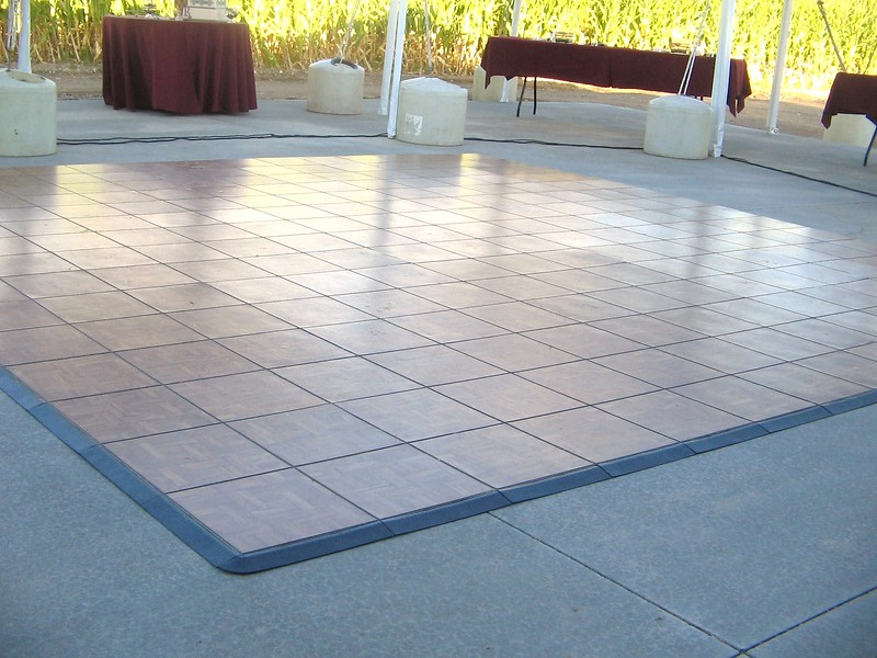 Oak Color Snaplock Portable Dance Floor