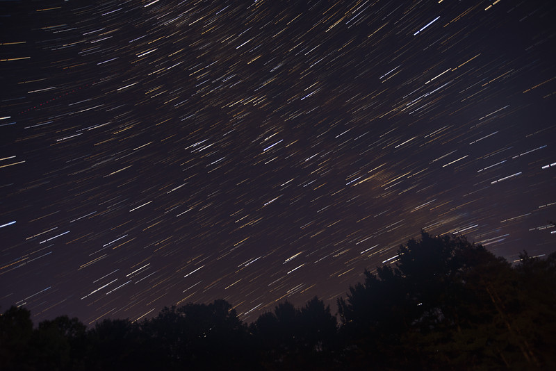 Star Trails and the Milky Way