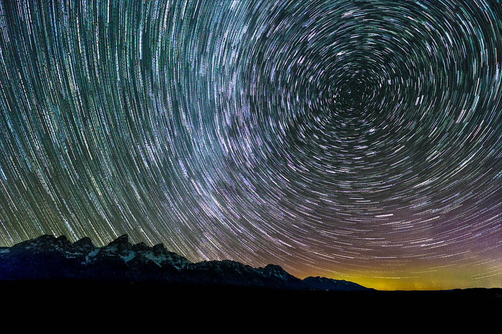 Star Trails in the Tetons