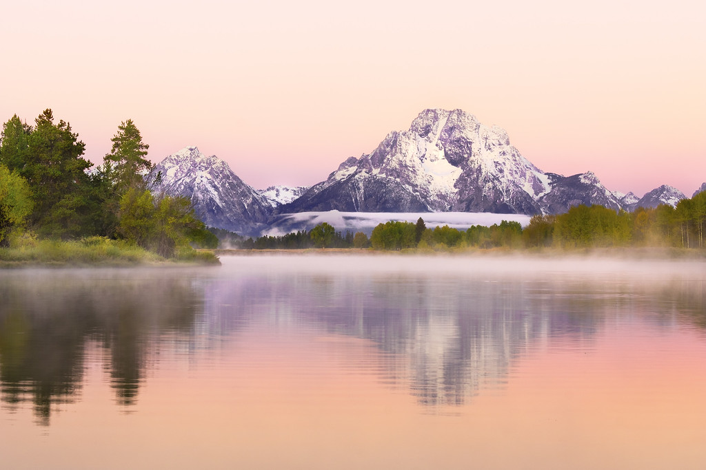 Pink Sunrise in the Tetons
