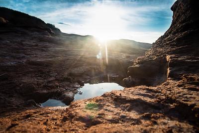 Prince Edward Island Sunset Over Rocks