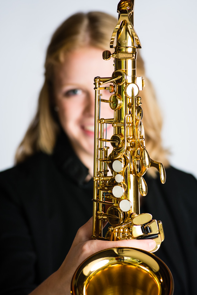 Ashley and her Saxophone