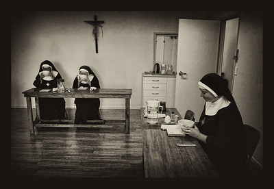 The Nuns having afternoon tea in silence