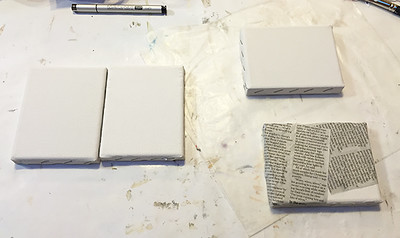 small blank 3 x 5 canvases