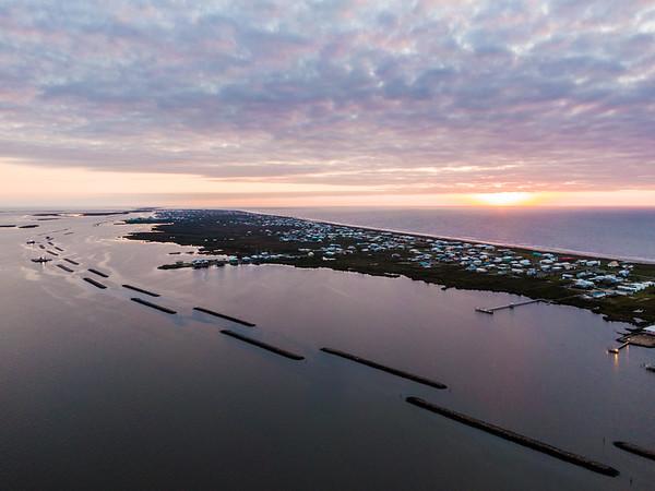 Segmented Breakwaters, Grand Isle Louisiana