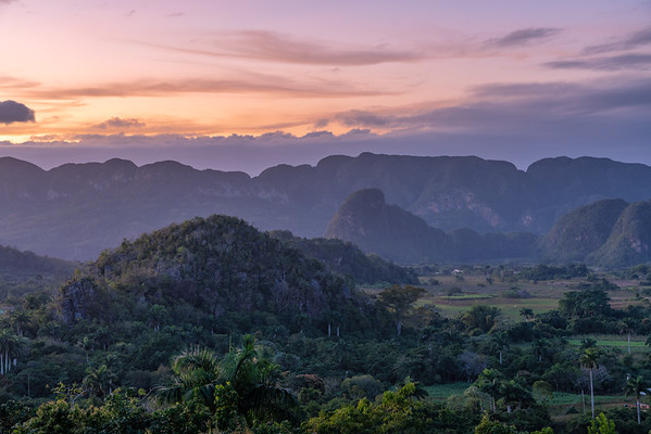 Vinales at sunset, Cuba 2020.