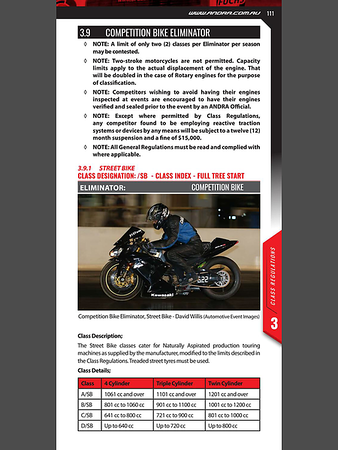 Australian National Drag Racing Association RuleBook 2019/2020
