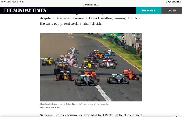 The Sunday Times ( online edition ) Sunday 24 March 2019