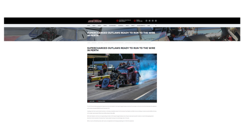 Australian National Drag Racing Website
