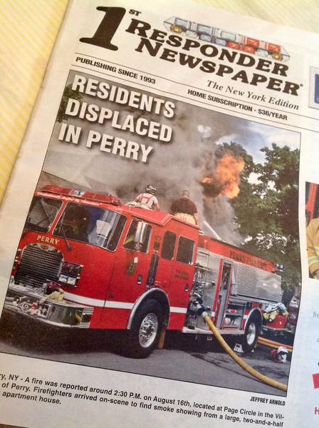 1st Responder Magazine Cover by CFPA New York Member Jeff Arnold