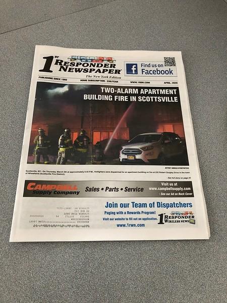 1st Responder Magazine April 2020 Cover by CFPA New York Member Jeff Arnold
