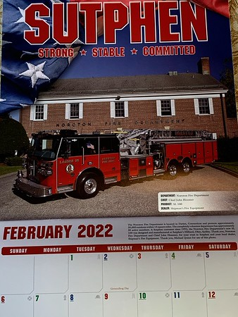 2021 Sutphen Fire Apparatus Calendar Febuary Feature by CFPA Vice President Mike Quinn