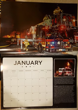 2021 Fire Trucks in Action Calendar January Feature by CFPA President Glenn Duda