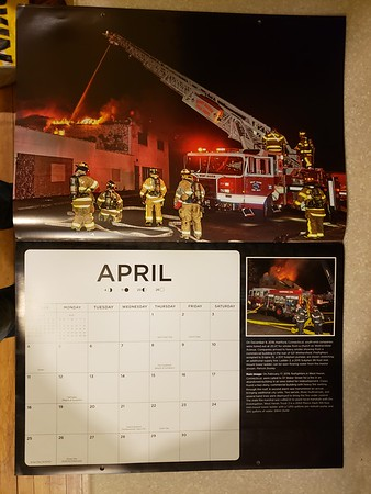 2021 Fire Trucks in Action Calendar April Feature by CFPA President Glenn Duda