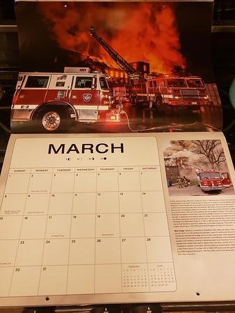 Fire Trucks in Action Calendar 2020 March Feature by CFPA President Glenn Duda