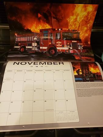 Fire Trucks in Action Calendar 2020 November Feature by CFPA Illinois member John Boyajian