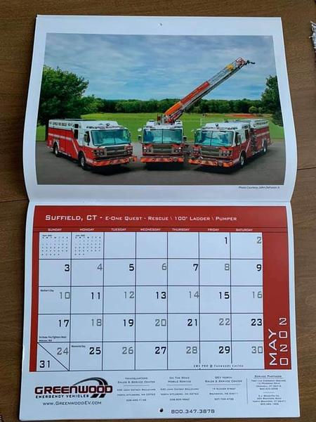 2020 Greenwood Fire Apparatus Calendar May Feature by CFPA Massachuestts Member John DeForest