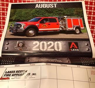 2020 Lakes Region Fire Apparatus Calendar August Feature by CFPA Massachusetts Member Eric Fellows
