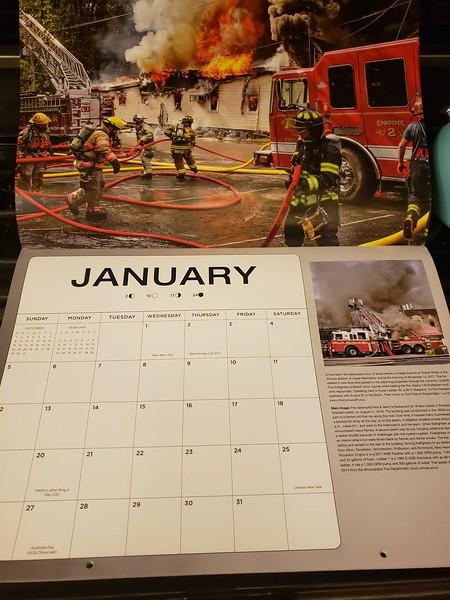 Fire Trucks in Action Calendar 2020 January Feature by CFPA Florida member Scott LaPrade