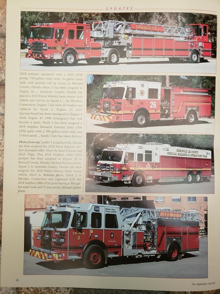 Fire Apparatus Journal Apr-May 2019 Photos by CFPA Connecticut Member Mark Redman and Vice President Mike Quinn
